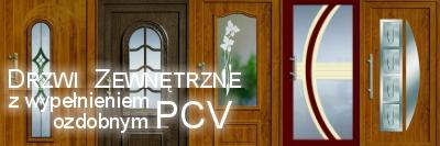 Drzwi Zewnętrzne z wypełnieniem ozdobnym PCV